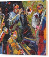 Hot Quartet Wood Print