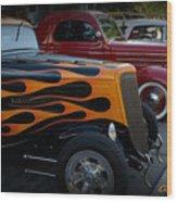 Hot Road Wood Print