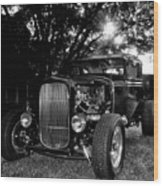 Hot Rod - Ford Model A Wood Print