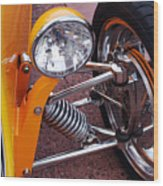Hot Rod Headlight Wood Print