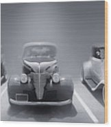 Hot Rod Power Black And White Poster Wood Print
