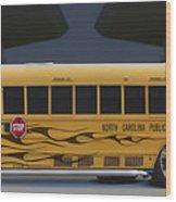 Hot Rod School Bus Wood Print by Mike McGlothlen
