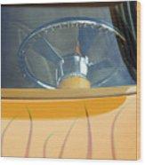 Hot Rod Steering Wheel 2 Wood Print