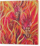 Hot Samba I Triptyche Left Panel Wood Print