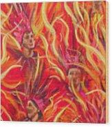 Hot Samba II Triptyche Middle Panel Wood Print