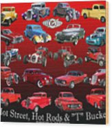Car Show And Shine Poster Wood Print