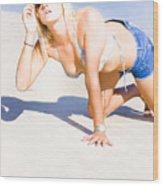 Hot Summer Wood Print