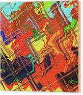 Hot Tile Reflection Wood Print