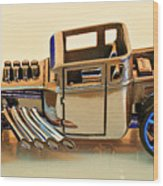 Hot Wheels Bone Shaker Hotwheels Wood Print
