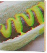 Hotdog - Use Red-cyan 3d Glasses Wood Print