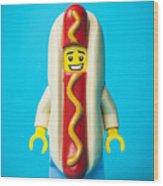 Hotdog Dude Wood Print