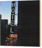 Hotel Chelsea Wood Print