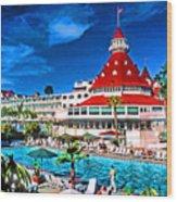 Hotel Coronado Wood Print