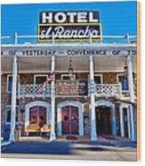 Hotel El Rancho Wood Print