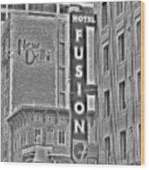 Hotel Fusion Wood Print