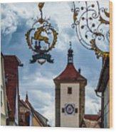 Hotel Goldener Hirsch Wood Print
