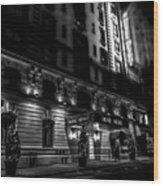 Hotel Metro, Nyc - Bw Wood Print
