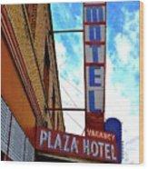 Hotel Motel Wood Print