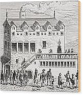 Hotel Of The Chamber Of Accounts In The Wood Print