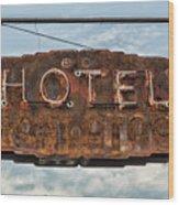 Hotel Pontotoc Wood Print
