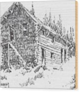 Hotel Red Lion Ghost Town Montana Wood Print