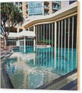 Hotel Swimming Pool Wood Print