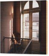 Hotel Window Wood Print