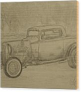 Hotrod 1934 Ford Coupe Wood Print
