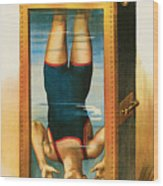 Houdini Water Filled Torture Cell Wood Print
