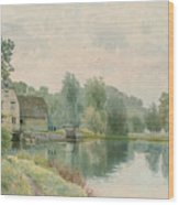 Houghton Mill On The River Ouse Wood Print