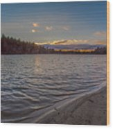 Houghton's Pond Sunset Wood Print