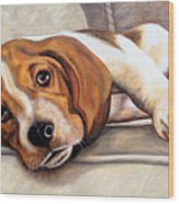 Hound Dog Wood Print