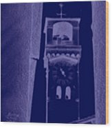 hour tower Lucca Wood Print