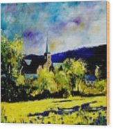 Hour Village Belgium Wood Print