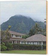 House At Hanalei Bay - Kauai - Hawaii Wood Print