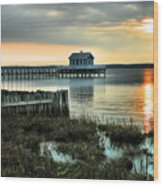House At The End Of The Pier II Wood Print
