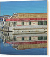 House Boats  Wood Print