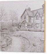 House By Lake Wood Print
