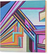 House By The Bay Wood Print