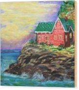 House by the sea Wood Print