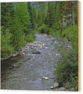 House By The Stream In Vail 2 Wood Print