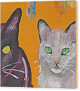 House Cats Wood Print