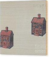 House Coin Bank Wood Print