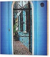 House Door 4 In Charleston Sc  Wood Print by Susanne Van Hulst