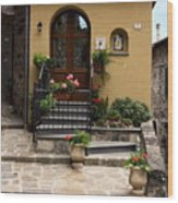 House Entrance  Wood Print