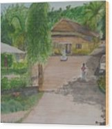 House In Goa Wood Print