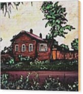House In Sergiyev Posad   Wood Print