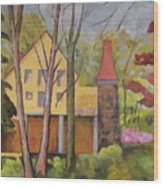 House Of Clara Barton Wood Print
