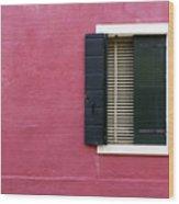 House Of Venice - Magenta Wood Print