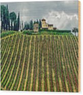 House On A Hill-tuscany Wood Print